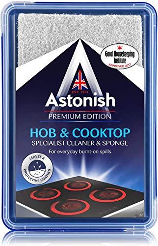 Astonish Specialist Hob & Cooktop Cleaner & Sponge, 250g