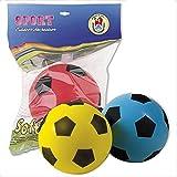official product Palla Pallone Mini in Spugna Diametro 12 cm -Diametro-Made in Italy-Vendita 1 Pezzo-Tre Colori a Vostra Scelta (Rossa)