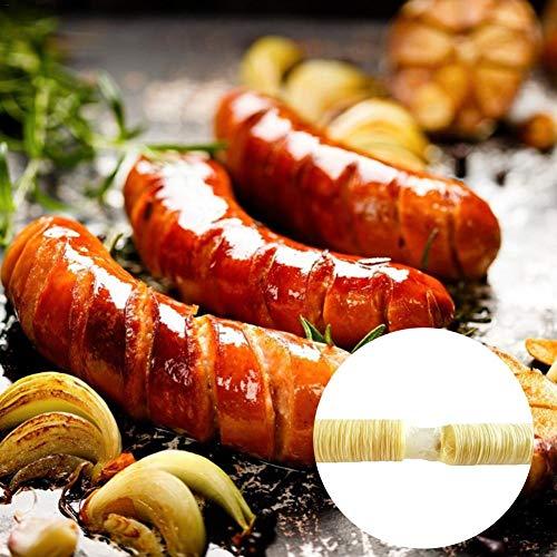 Wursthülle Kunstdarm aus Sojaprotein Hüllen für Wurst Kunstdarm Schweine- und Schafdärme zur Herstellung von Bratwurst, Trockenwurst, Wurst (14M 20MM)