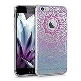 kwmobile Carcasa Compatible con Apple iPhone 6 / 6S - Funda de TPU y Sol hindú en Azul/Rosa Fucsia/Transparente