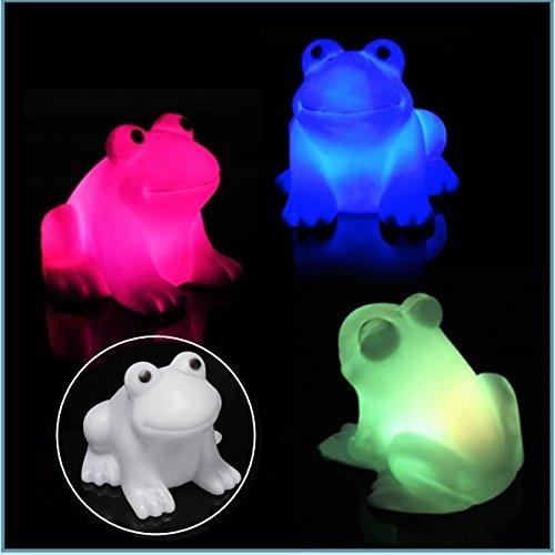 Bluelover Grenouille Mignon Nuit Nouveauté Lumière Lumière LED Couleur Changement De Lampe