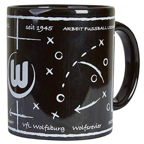 VfL Wolfsburg Taktiktafel Tasse (one size, Schwarz)