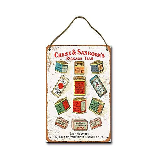 GenericBrands 1903 Chase & Sanborn's Teas Placa enmarcada Cartel Colgante Decoraciones de Pared decoración rebanadas Publicidad Pared Cartel Retro Banda Juego de películas