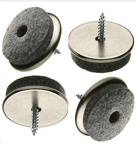 16 Stück Filz-Möbelgleiter aus Eisen Ø 18 mm mit Schraube, Filzgleiter
