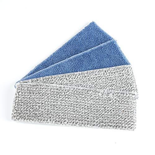 CLEANmaxx Ersatzwischtücher 4er-Set | Für Bodenwischer mit Vibrationsfunktion, weiß| 4 Mikrofasertücher [weiß für 40min Akku]