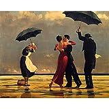 GWYKQ Pareja bailando playa pintura diy by números amantes pintura acrílica sobre lienzo cuadros vintage figura pinturas abstractas cudros Painting By Numbers,Sin Marco 40X50Cm