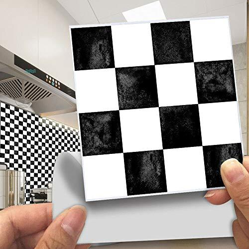 Pegatinas de azulejos de mosaico, 30 unidades, autoadhesivas, azulejos de pared, impermeable, papel para cuarto de baño y cocina (30 unidades de 10 x 10 cm, MSC059)