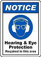 通知聴覚と目の保護壁錫サイン金属ポスターレトロプラーク警告サインヴィンテージ鉄の絵画の装飾オフィスの寝室のリビングルームクラブのための面白いハンギングクラフト