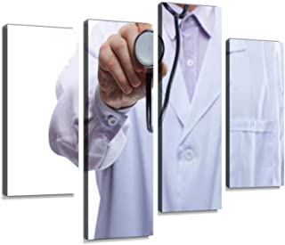 Doctor checking with stethoscope Canvas Print Artwork Wall Art Pictures Framed Digital Print Abstract Painting Room Home O...