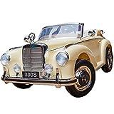 ATAA Mercedes clásico 300s - Beige - Coche de batería para niños Mercedes clásico 300s con batería 12v y Mando Control Remoto