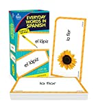 Carson Dellosa Everyday Words in Spanish Flash Cards—Ages 5+ Colors, Animals, People, Common Phrases, Household Items, Spanish Vocabulary With Illustrations (104 pc)