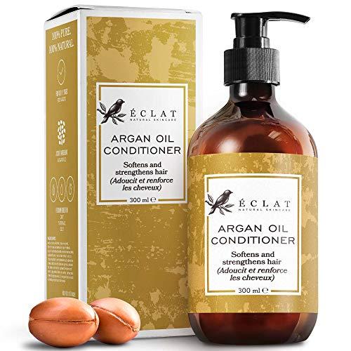 Acondicionador Aceite Argán Orgánico Eclat – Acondicionador Aceite Argán Natural con Vitamina E y Aceites Grasos Omega 6 Pelo Más Suave y Sedoso con Jojoba y Macadamia Acondicionador No Grasiento