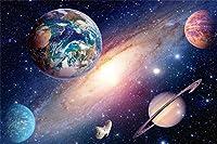 新しい地球の太陽系の背景7x5ftの星の写真銀河火星惑星天の川写真の背景サイエンスクラス休日の写真と自撮り写真子供大人の写真フォトブースの壁紙