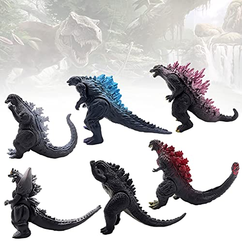 Figuras de Godzilla - CBOSNF 6pcs Adornos Godzilla, Juego de Juguetes de Dinosaurio,Ideal Como Regalo para Niños