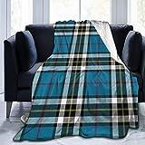 wobuzhidaoshamingzi Franela Fleece Blanket Thompson Mactavish Tartan Lightweight Super Soft Cozy Microfiber Bed Blanket