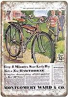 モンゴメリー区自転車ヴィンテージティンサイン装飾ヴィンテージ壁金属プラークレトロアイアン絵画カフェバー映画ギフト結婚式誕生日警告