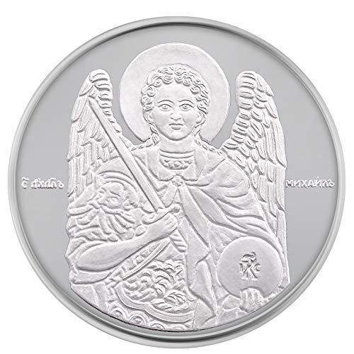 Religiöses Geschenk St. Michael der Erzengel feines Silber Münze Münze Münze Medaille 3 g 1/10 oz 16 mm