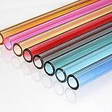 PPuujia Lot de 8 pailles réutilisables en verre transparent pour milkshakes jus, boissons, smoothies, thé à bulles (couleur : 10 pièces)