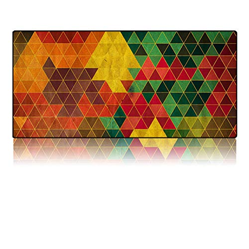 NASHUBIA Vintage Perzische stijl geweven tapijt Muis Pad Tapijt Muis Mat Office Tool Gift Mouse Mat Pad voor Computer Bohemia Kleur: wit