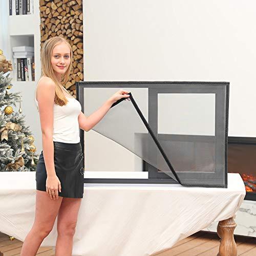 HTDG Vliegengaas, voor ramen, op maat gemaakt, aluminium, zelfklevend, glasvezel, zonder boren, zelfklevend