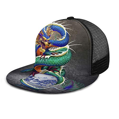 Dreamfy Unisex Baseball Cap Chinese Dragon Noble Monster Chinoiserie Snapback Hats Trucker Hat Hip Hop Adjustable Caps