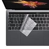 i-Buy Ultra Fino Clear TPU Teclado Cubierta Macbook Pro 13/15 con Touch Bar y Touch ID[Teclado QWERTY español]- Claro