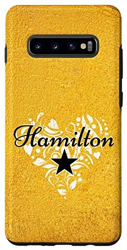 Galaxy S10+ I Love Hamilton Heart   Gift Merchandise for Teen Women Case