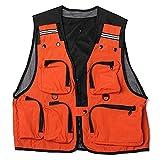 Chaleco Pesca Lightweight and Comfortable Multi-Pocket Fishnet Vest Work...