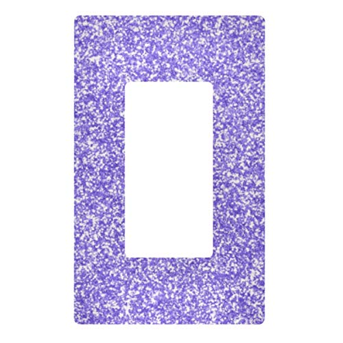 2 Gang Decorative Light Switch Wall Plate Lavender Purple Glitter Sparkles Switch Plate Cover