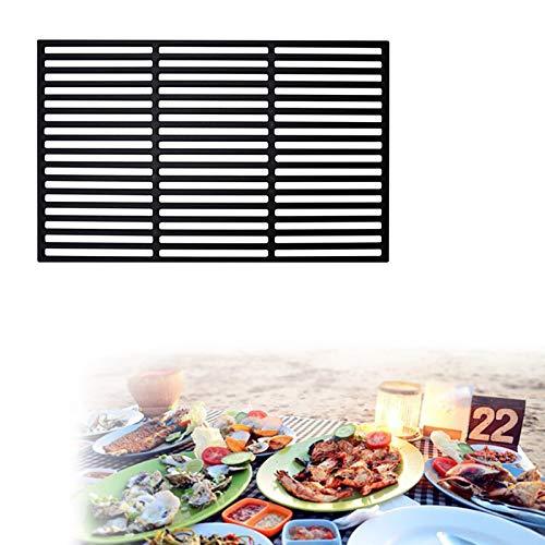 LZQ Griglia rettangolare in ghisa, griglia in ghisa, per barbecue a gas e carbonella, massiccia e smaltata (dimensioni: 28 x 42 cm)