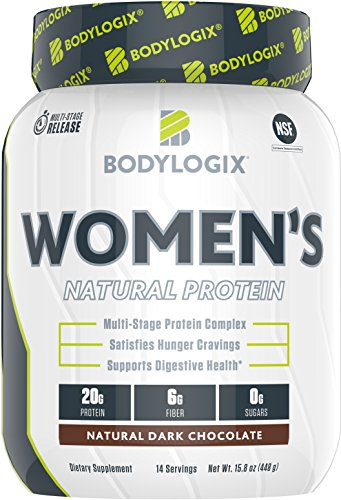 Bodylogix Women's Protein Powder, NSF Certified, Natural Dark...