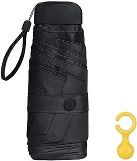 Vicloon Mini Ombrello Portatile Pieghevoli, Leggero Compatto Antivento Ombrello da Viaggio con Piatto Manico, Pioggia e UV...