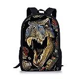 Showudesigns Cool Printing Dinosaur Backpack for Boys Kids Sport Bag Boys Rucksack School