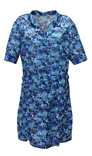 Kittel Schürze Kittelschürze mit 1/4 Arm Dederon Polyester, Farbe:Dessin 3, Größe:60