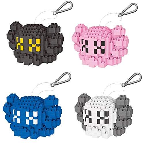 4Pcs Mini Blocks DIY Building Toy Creative Gift Llavero Puzzle Modelo para Niños
