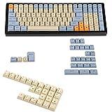 YMDK Lasergravierte UK-Tastenkappe für mechanische MX-Tastatur YMD96 KBD75 104 87 61 (Godspeed Deutsch ISO)