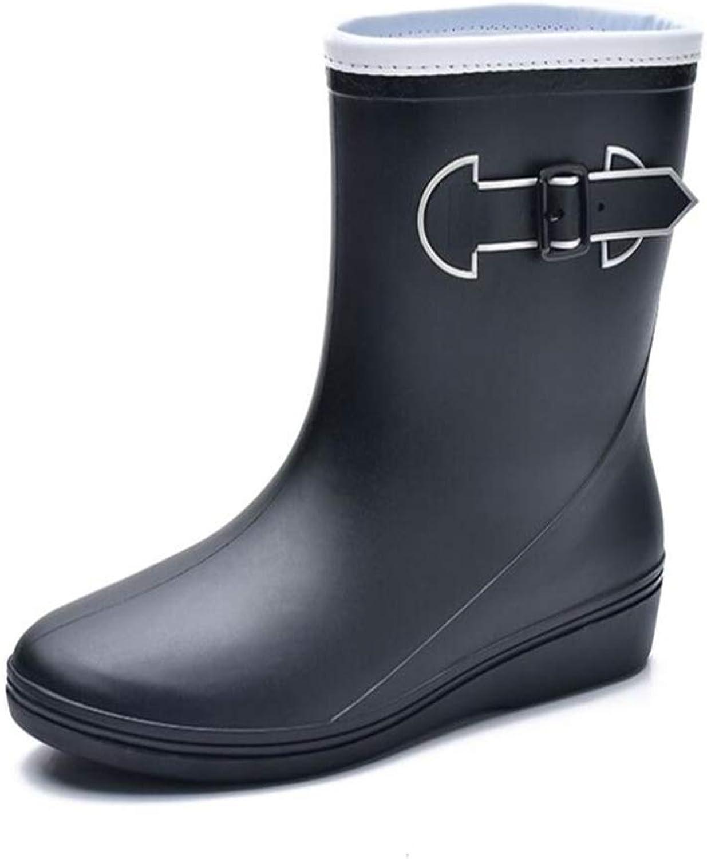 FORTUN Waterproof Short Rubber shoes Women's Non-Slip rain Boots