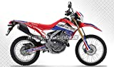 Kungfu Graphics Custom Decal Kit for CRF250L 2012 2013 2014 2015 2016 2017 2018 2019 2020, Blue White Red, Style 007
