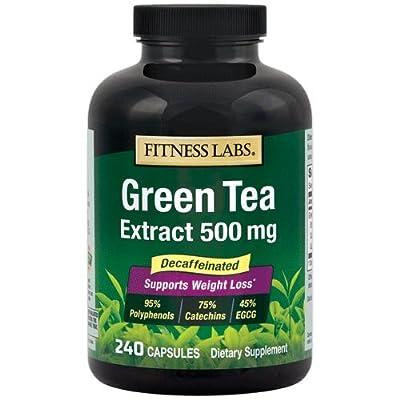 Fitness Labs Green Tea Extract 500 Mg Decaffeinated