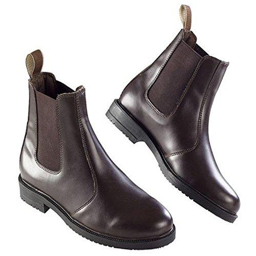 EKKIA Reiten Jumping Kinder Erwachsene Equi Leder Stabile Yard Jodhpur-Boots Alle Größen Braun braun Adults 3