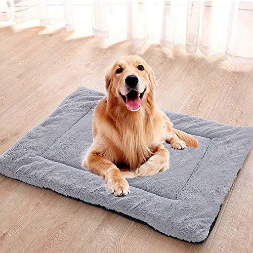 Homieco Haustier Matten Bett für Hund Katze Schlafen weiche warme Vlies Hundekissen Haustiere Kennel Pads Outdoor Indoor-Einsatz, L/Cord Kaffee