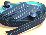 Bianchi - Cinta para manillar DROPS 2020, color negro con orificios CK16, celeste fluorescente, código C2600089