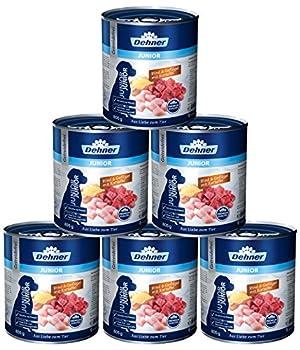 Dehner Premium Nourriture pour Chien Junior, bœuf, volaille et Pommes de Terre, 6 x 800 g (4,8 kg)