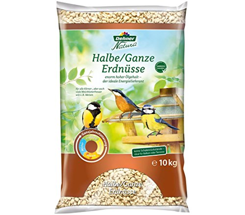 Dehner Natura Wildvogelfutter, halbe/ganze Erdnüsse, 10 kg
