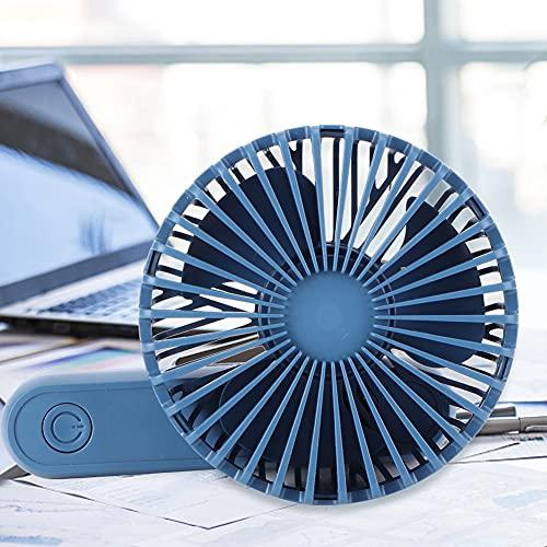 Andraw Ventilador USB portátil Plegable, Ventilador Personal con Pilas, Bolsillo para Viajes de Verano(Blue)