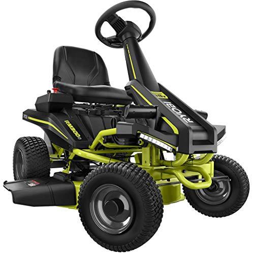 RYOBI Riding Lawn Mower 38 in 100 Ah Battery Electric...