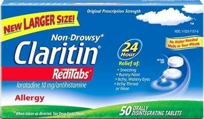 Claritin RediTabs - 24 Hour Allergy Loratadine Popular brand in the world Limited time trial price m 10 Non-Drowsy