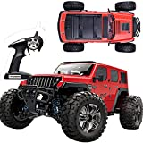 RC Car Remote Control Car 1:14 Scale High Speed Off-Road Vehicle Crawler Truck 35km/h 4WD 2.4GHz RC Monster Truck Electric Racing Car RC Buggy Truck Crawler Hobby Car Toy for Adults and Kids Red