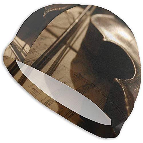 Geigen-Badekappen für Männer und Frauen sind auch für Jungen und Mädchen geeignet.