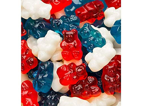 Candy Retailer Gummi Red White Blue Freedom Gummy Bears 2 Lbs